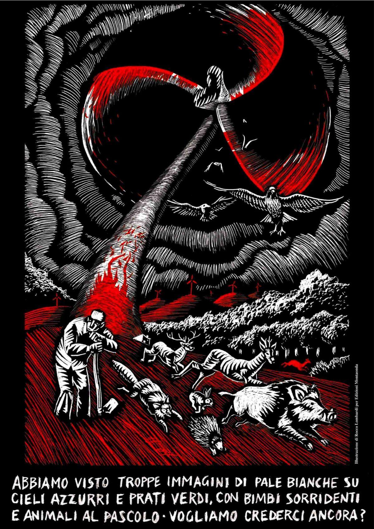 Poster - Rocco Lombardi, L'incubo della pala eolica