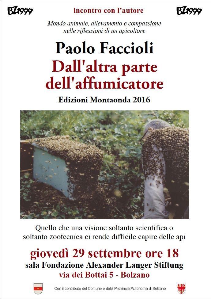 29 settembre 2016 - BOLZANO: Paolo Faccioli