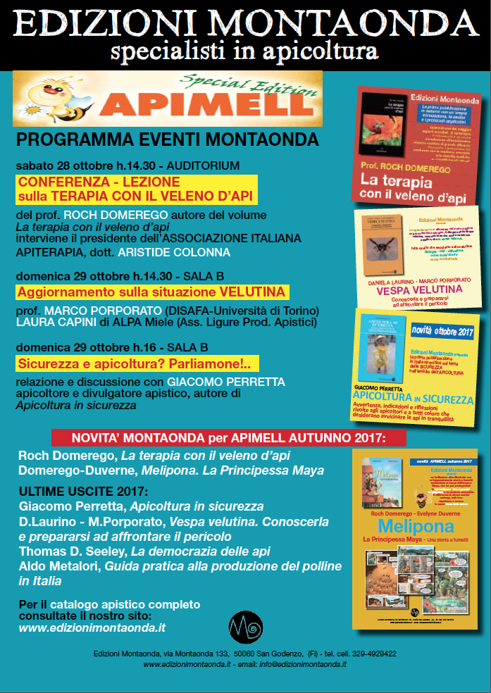 APIMELL 2017 AUTUNNO - PROGRAMMA MONTAONDA